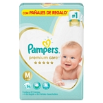 PAÑAL PAMPERS PREMIUM CARE M X 86 UN.