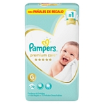 PAÑAL PAMPERS PREMIUM CARE G X 72 UN.
