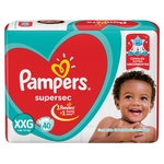 PAÑAL PAMPERS SUPERSEC XXG X 40 UN.