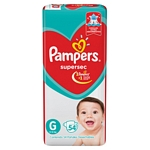 PAÑAL PAMPERS SUPERSEC G X 54 UN.