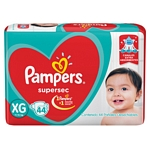 PAÑAL PAMPERS SUPERSEC XG X 44 UN.