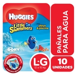 PAÑAL HUGGIES LITTLE SWIMERS DISNEY G X 10 UN.