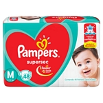 PAÑAL PAMPERS SUPERSEC M X 48 UN.