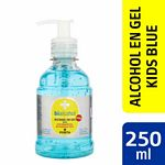 ALCOHOL PORTA EN GEL KIDS BLUE X 250 ML.