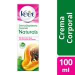 CREMA DEPILATORIA VEET NATURALS PAPAYA PIEL SECA X 100 ML.