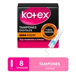 TAMPONES KOTEX EVOLUTION SUPER X 8 UN.