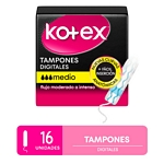 TAMPONES KOTEX EVOLUTION MEDIO X 16 UN.