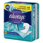 PROTECTOR DIARIO ALWAYS LINERS RESPIRABLE X 40 UN.