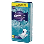 PROTECTOR DIARIO ALWAYS LINERS RESPIRABLE X 80 UN.