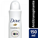 DESODORANTE DOVE INVISIBLE DRY X 150 ML.