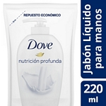 JABON LIQUIDO DOVE BEAUTY CREAM WASH DOY PACK X 220 ML.