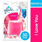 CANASTA GLADE LIQUIDA PARA INODORO I LOVE YOU REPUESTO X 50 ML.