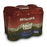 CERVEZA PATAGONIA AMBER LAGER X 473 CC. PACK X 6 UNIDADES