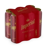 CERVEZA IMPERIAL AMBER LAGER LATA X 473 CC. PACK X 6 UN.