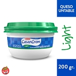 QUESO CREMA CASANCREM LIGHT BLANCO POTE X 200 GR.