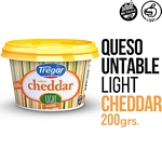QUESO UNTABLE TREGAR NEUFCHATEL CHEDAR LIGHT X 190 GR.