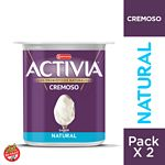 YOGUR ACTIVIA ENTERO NATURAL X 250 GR.