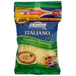 QUESO EN HEBRAS LA PAULINA ITALIANO LIGHT X 400 GR.