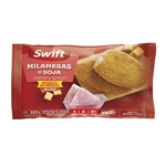 MILANESA DE SOJA SWIFT CON JAMON Y QUESO X 380 GR. FLOW PACK X 4 UN.