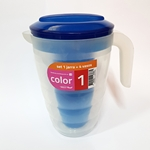 JARRA COLOR 2 LT. CON 4 VASOS COLOR  - ART. JS0001CD