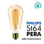 LAMPARA PHILIPS LED FILAMENT CLASSIC 50 W. E27 ST64 DIMERIZABLE X UN. - ART. 929001228942/929001228991