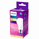 LAMPARA PHILIPS LED BULB 8 W. = 70 W. 15.000 H. CALIDA X UN. - ART. 929001304711