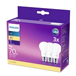 LAMPARA PHILIPS LED BULB ESSENTIAL 8 W= 70 W 6500K 15000 H FRIA X 3 UN. - ART. 929001304897**
