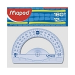 TRANSPORTADOR 12 CM 180º GRAPHIC MAPED - ART 242180