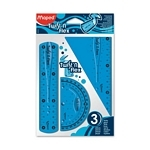 KIT GEOMETRICO MAPED 15 CM TWIST`N FLEX X 3 PIEZAS.- ART.895024