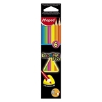 LAPIZ MAPED COLOR FLUOR X 6 UN. - ART. 832003ZV