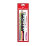 LAPIZ FABER CASTELL GRAFITO MONSTER X 4 UN. - ART. 511941
