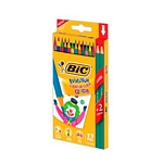 LAPIZ BIC COLOR EVOLUTION CIRCUS X 12 UN. + LAPIZ GRAFITO X 2 UN. X UN. - ART. 942017