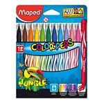 MARCADOR MAPED JUNGLE X 12 UN. - ART. 845420