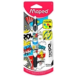 BOLIGRAFO MAPED TWIN TIP  4 COLORES TATOO COMICS BLISTER X UN. - ART.229441