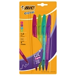 COMBO BOLIGRAFO RETRACTIL CRISTAL CLIC FASHION X 4 ART-950753