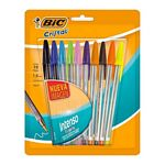 BOLIGRAFO BIC CRISTAL COLORES INTENSOS 1.6 MM. X 10 UN-ART 963183