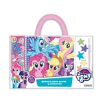 MALETIN MY LITTLE PONY PARA CREAR Y COLOREAR CON ACCESORIOS X UN. - ART. HLP09338