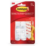 GANCHO COMMAND MEDIANO BLANCO HASTA 1.35 KG X 2 UN-ART 334
