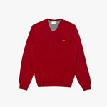 SWEATER LACOSTE AH4087 ESCOTE V LISO JERSEY I20