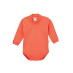BODY BEBE NARANJO 12125 MEDIA POLERA INTERLOCK COLOR FUERTE 1/4 I20*C