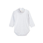BODY BEBE NARANJO 1125 MEDIA POLERA INTERLOCK BLANCO  0/4 I20*C